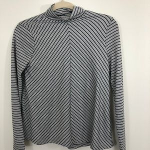 Zara Trafulac Mock Turtleneck Shirt Size Small